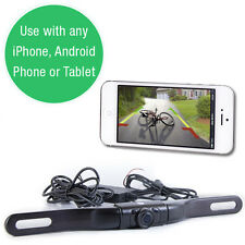 Top Dawg Electronics WIFI License Plate Backup Camera - Works w/iPhone/Android