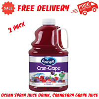 2 Pack Ocean Spray Juice Drink, Cranberry Grape Juice, 101.4 Fl Oz, Fat-Free