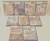 Lot Of 9 Xbox 360 Kinect Video Games CIB Leela Sports Just Dance Sonic And More