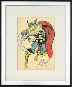 @@@ JACK KIRBY - old unique ART !!! OLD WATERCOLOR !!! @@@