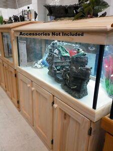 "5'X14""X18"" Glass Aquarium Fish Tank Cabinet Hood - PICK UP ONLY"