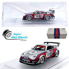 Cm-Model 1:64 Rwb Porsche 911 (993) Martini - Detachable Wing - Diecast Model