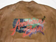 *ADIDAS VINTAGE LEDERJACKE*AMERICAN BORN STATE USA*BRAUN*SUPPORT*GR: XL*TIP TOP