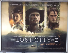 Cinema Poster: LOST CITY OF Z, THE  2017 (Quad) Charlie Hunnam