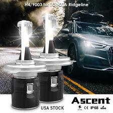 H4 9003 LED Headlight Conversion Kit CREE Bulbs For Honda Ridgeline 2014-2009 US