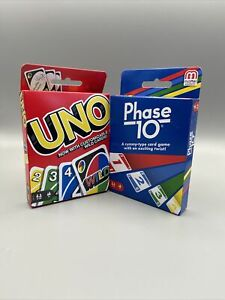 Phase 10 Rummy Style Card Game & UNO BRAND NEW