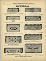 1880s PAPER AD 2 PG Harmonica Richter RARE With Bell Hohner Wilhelm Thie Wiener