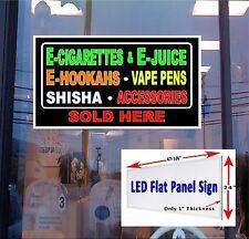 E  cigarettes Vapor Pens Hookah Shisha 48x24 Led Flat panel Light box sign