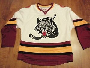 Chicago Wolves CCM AHL Jersey Size Boys Small - Medium Ironed on Crest Patch