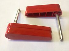 Bally 1970s 1980s Pinball Machine Red Flippers Bats Set of 2 Kiss, Evel Knievel