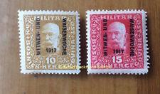 EBS Austro-Hungarian Empire Bosnia 1917 War Widows and Orphans 119-120 MNH**