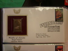 2006 WONDERS OF AMERICA MOST ACTIVE VOLCANO  22kt Gold STAMP replica INFO CARD