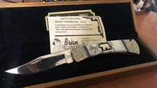 Brian Yellowhorse Limited Edition Buck 110 Custom Knife in Display Box