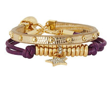 Juicy Couture Gifting Very Pretty Pave Star Friendship Duo Bracelet Purple NEW
