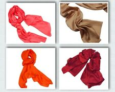 Blingustyle Elegant Fashion LARGE Lady 100% Real Mulberry Silk SCARF Plain color