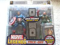 MARVEL Legends Face-Off 2 Figures CAPTAIN AMERICA RED SKULL Comic Book Card Base