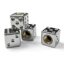 Ventilkappen Set Totenkopf-Knochen chrom-optik Schutzkappen für Autoventile