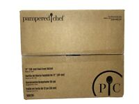 """Pampered Chef 12"""" Cast Iron Skillet Handles Pre Seasoned Made in USA New in Box"""