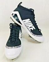 Nike Force Zoom Trout 4 Mid Metal Baseball Cleats 917837-001 White/Black Sz 12