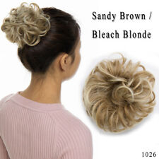 Natural Human Curly Messy Bun Hair Piece Scrunchie New Fake Hair Extensions US