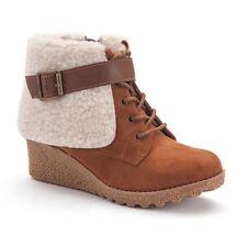 Girls' Wedge Boots Mudd NIB In cognac Size 13 Youth