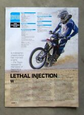 HUSQVARNA TE450 TE 450 2008 Motorcycle Magazine Page Test Ride Review Article Ad