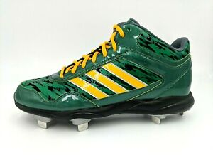 Adidas Baseball Mi Excelsior Pro Mid Mens Metal Cleats Grn/Blk/Ylw Size 8.5