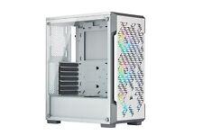 Corsair iCUE 220T RGB Airflow Mid Tower Gaming Case - White USB 3.0