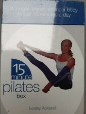 15 Minute Pilates Book/Cards Box Set Lesley Ackland Brand New