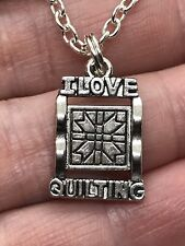 I Love Quilting Charm Only No Chain D-594  Qty 4 *9*