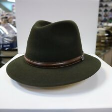 BORSALINO OLIVE GREEN OUTBACK FUR FELT FEDORA DRESS HAT *READ BELOW 4 SIZE