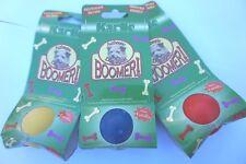 """3 X SOLID RUBBER DOG BALLS - 4cm / 1.5"""" KARLIE VANILLA FLAVOURED BOOMER BALLS"""
