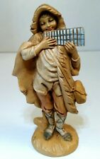 "Fontanini Depose Italy Roman Nativity Figurine - Boy With Pan Flute 5"" Signed"