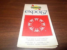1967 Sunoco Expo 67 Vintage Road Map