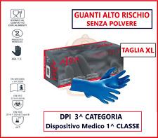 50 Guanti Monouso Blu High Risk Triplo Spessore Taglia XL in lattice no Talco
