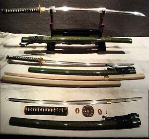 Rare Top Quality Japanese Samurai Swords Katana Clay Tempered Folded Steel Sharp