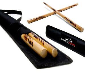 Krakstorm Escrima Sticks 3/4 Inch W/Bag Thin Kali Sticks FMA Arnis
