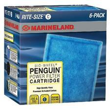 Marineland Penguin Bio-Wheel Power Filter Cartridges 6 Count For Aquarium Size C