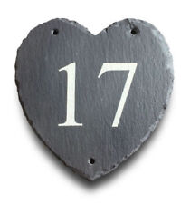 Handmade House Name Heart Decorative Plaques & Signs