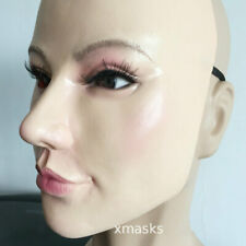 Beauty mask latex Female Mask Halloween costumes performance Half A Face