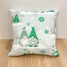 991.Christmas Dwarfs in Lime Green 100% Cotton Cushion Cover Various sizes