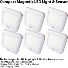 6x Rechargeable Magnetic LED Light & Motion Sensor – Cupboard/Cabinet Mini Spot