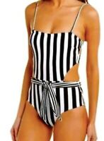 ONIA One Piece Swimsuit, Size M and L, Black and White Striped, NWT $195