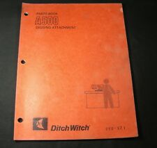 Ditch Witch A500 Digging Attachment Parts Manual Book Catalog List