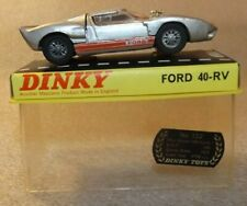 Vintage Dinky Ford GT 40-Rv #132 MIB Silver S