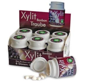 XYLIT BONBON TRAUBE - 100% BIRKENZUCKER, 6 x 100 STK DOSE
