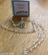 1 x CLEAR QUARTZ GEMSTONE WITCHES' LADDER  Wicca Pagan Witch Goth