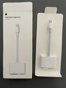OEM Apple Lightning to HDMI Digital AV Adapter MD826AM/A A1438 Open box