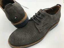 91fc5471e4e269 Men s Tommy Hilfiger TH Light Suede Jacob Steel Grey Casual Dress Shoes US  10
