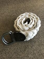 Abercrombie & Fitch White Braided Belt Moose Logo  New Size 30